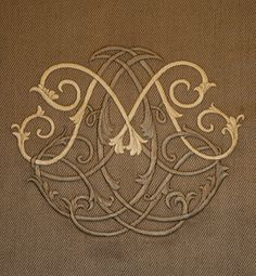 Villa Savoia, Inc.: Custom Embroidered M Monogram for Chair Backs