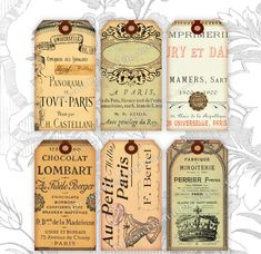 French Ephemera Gift Tags