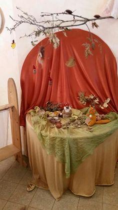 פינת עונה / שולחן זמן - סתיו, אחרי החגים fall nature table, November