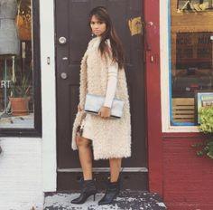 Double Zero Knit Dress and Long Vest