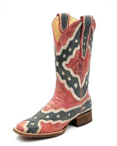Women's Rebel Flag Boot - A1177 ((((The South Will Rise Again!!!)))) Take that!!! HA- Says Michele