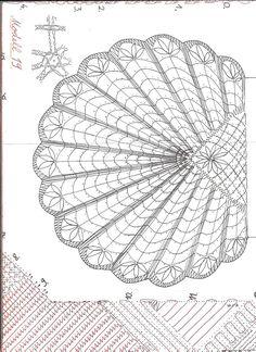 Foto: Tunisian Crochet, Filet Crochet, Irish Crochet, Crochet Motif, Crochet Patterns, Bruges Lace, Lace Bag, Bobbin Lace Patterns, Lacemaking