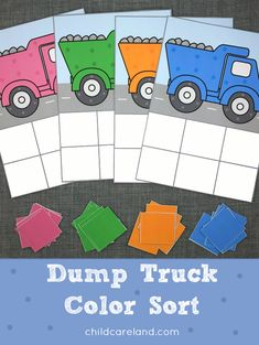 Dump truck color sort for color recognition and review.