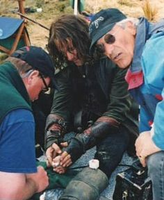 LOTR: The Two Towers/ Viggo Mortensen and his broken toes, after kicking the Uruk helmet. (that scream... he was really in pain)