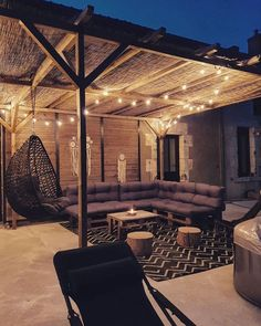 """ATM Outdoor Living on Instagram: """"Light up your outdoor space! 🔥 - 📸: @pic.by.coco"""" Patio Lighting, Outdoor Living, Outdoor Decor, Garden Styles, Light Up, Pergola, Outdoor Structures, Instagram, Home Decor"""