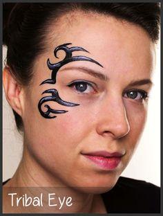 tribal eye face paint - Google Search