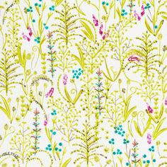141814 quote garden | green Quilter's Cotton from Garden Secrets by Sarah Watson for Cloud9 Fabrics