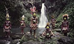 Huli wigmen, Ambua Falls, Tari valley, Papua New Guinea, 2010 by Jimmy Nelson.