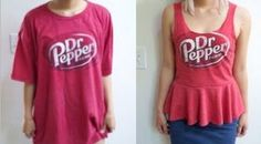 Creative Ideas - How To Repurpose An Extra Large T-shirt Into A Peplum Top