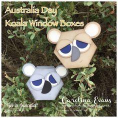 Happy Australia Day!!! Carolina Evans - Stampin' Up! Demonstrator Melbourne Australia - Koala Boxes made with NEW Window Die Thinlets #carolinaevans #studioevans #stampinup #occasions2017 #sab2017 #australiaday2017 #koalas