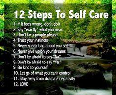 #HealthRegards 12 Simple steps to SELF CARE!