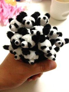 Panda head by pipe cleaner