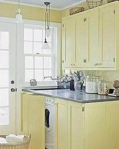 Get the clean finished look with matching piano hinged cabinet doors to close in your washer and dryer.