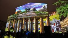 On facade of the Stock Exchange Building show will be shown. Stock Exchange Building will be turned into a projection screen, which will be b. 3d Light, Projection Screen, Petersburg Russia, Saint Petersburg, Day Tours, Big Ben, Facade, Saints, Long Awaited