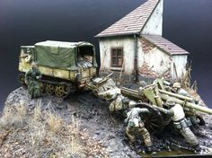WWII Eastern Front Winter Hell Scale Model Diorama - Unternehmen Südwind german offensive against the soviet bridgehead west of the Hron river.One of the divisions who fought in this area was I.D. Hoch und Deutschmeister by Roger Hurkmans April 18 2014