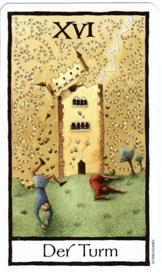 The Tower from the Old English Tarot