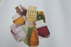Wine Theme Confetti in shape of Mason Jar Wine by ThePartyGnome