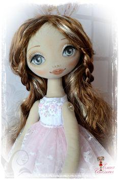 Emilia, textile doll, height 50 cm