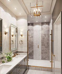 Bathroom decor, Bathroom decoration, Bathroom DIY and Crafts, Bathroom home design Bathroom Interior Design, Decor Interior Design, Interior Decorating, Decorating Bathrooms, Decorating Ideas, Gold Interior, Dream Bathrooms, Beautiful Bathrooms, Luxury Bathrooms