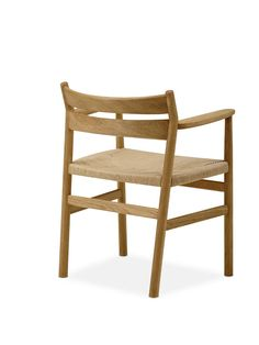 BM2 Chair by dk3. #Børge #Mogensen #BM2 #Chair #dk3 #Oak #Natural #Paper #Cordel #Danish #Design #Furniture www.dk3.dk