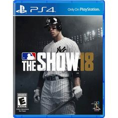 MLB: The Show 18 Brand New Factory Sealed Playstation 4 Just for you Games For Playstation 4, Ps4 Games, Games Consoles, Ps3, Xbox, Kingdom Hearts, Mlb The Show, Better Baseball, Baseball Live