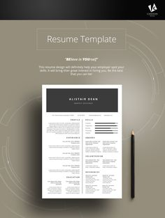 HandmadeArt  CollectiblesResume TemplateCvWord Resume