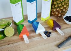 Splitz Popsicles, a branding and packaging design concept by Wylee Sanderson created at UCO Department of Design.