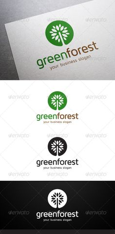Green Forest Logo — Vector EPS #tree #woods • Available here → https://graphicriver.net/item/green-forest-logo/5355600?ref=pxcr