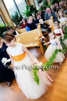 Flower Girl Dresses with tutu tulle skirt