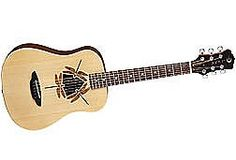 Luna Safari 3/4 Travel Acoustic Guitar Dragonefly Rosette Satin Finish - Axe Music - The #1 Store for Guitars in Canada - Buy Now (Free Shipping)