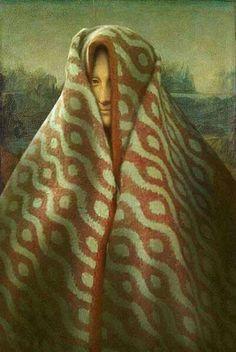 Mona Lisa wearing blanket over her head art Funny Art, Funny Memes, La Madone, Mona Lisa Parody, Mona Lisa Smile, Art Jokes, Photocollage, Aesthetic Art, Oeuvre D'art