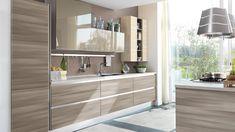 Essenza - Cucine Moderne - Cucine Lube New Kitchen, Kitchen Interior, Magic House, Double Vanity, Sweet Home, New Homes, Interior Design, Interior Ideas, Mirror