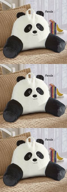 Bed Rest Kids Soft Plush PANDA Perfect for gaming, watching TV or story time Bed Rest, White Bedding, Story Time, Home Decor Styles, Decorative Pillows, Giraffe, Panda, Bed Pillows, Plush