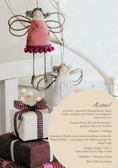 8 Tutorial  Tutorial: little fabric rest angels from marie claire idees