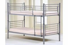 Alba LONDON METAL BUNK BED 50MM TUBING WITH A SILVER FINISH. http://www.comparestoreprices.co.uk/bunk-beds/alba-london-metal-bunk-bed.asp