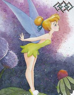 Peter Pan - Tinkerbell - Tippy Toes - Original by Michelle St. Laurent presented by World Wide Art Tinkerbell And Friends, Tinkerbell Disney, Peter Pan And Tinkerbell, Tinkerbell Fairies, Disney Fairies, Disney Kunst, Arte Disney, Disney Magic, Tinkerbell Wallpaper