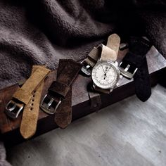 Bas and Lokes handmade suede leather watch strap on Graf Zeppelin watch.  #watchstraps #accessories #essentials Straps available at www.basandlokes.com
