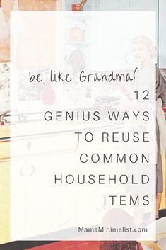 Be Like Grandma! 12 Genius Ways to Reuse Household Items Grandma reused everything + so should you. Here are 12 ways to reuse household items so that you, too, can save money by wasting less. Upcycled Crafts, Plastik Recycling, Candle Making At Home, Life Hacks, Reduce Reuse Recycle, Repurpose, Old Candles, No Waste, Reduce Waste