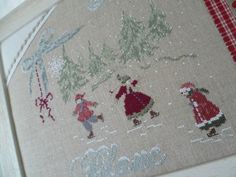 tableau d'hiver Christmas Cross, Christmas Fun, Cross Stitching, Cross Stitch Embroidery, Cross Stitch House, Cross Stitch Finishing, Christmas Embroidery, Le Point, Couture