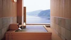 hinoki tub w/ view @ akazawa onsen