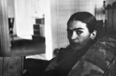 Frida Kahlo (Moody) in Detroit~Photograph by Lucienne Bloch, 1933.