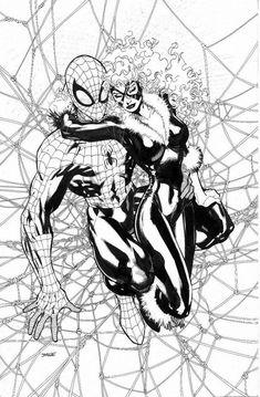 Spider-man & Black Cat | Jim Lee