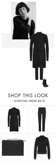 """""""/"""" by darkwood ❤ liked on Polyvore featuring Rick Owens and Vince"""