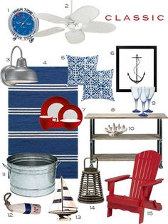 Classic Red White and Blue Front Porch Decor