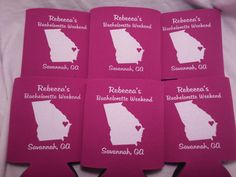 State Wedding Koozie - Georgia favors Screen Printed includes a 1 color / 1 location screen print with stock art design 158978223    Please