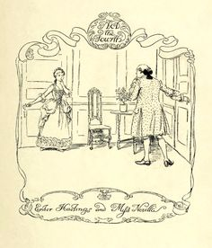 Act 4 Title. —   Hugh Thomson Illustrations: She Stoops to Conquer by Oliver Goldsmith