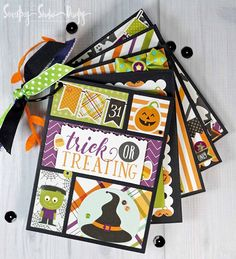 Super cute Halloween mini scrapbook created with the 'Halloween' collection from Echp Park Paper Co. Secretes Studio: 'Halloween' Mini!