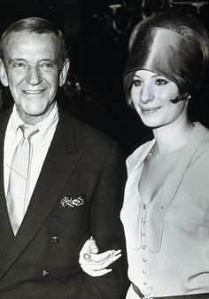 "Barbra Streisand and Fred Astaire pose togerther at the ""Golden Apple Award"" in 1968. They won the ""Star Of The Year"" award."