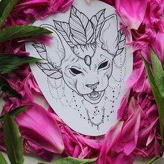 Свободен. По всем вопросам - в лс  #tattoosketch #tattooart #tattooartist #inkyRo #cat #sphynx #sphynxsketch #blackworkersubmission #blackworktattoo #catsketch #cattattoo #sphynxtattoo