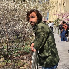 How to Get Andrea Pirlo's Classic Style Leather Men, Leather Jacket, Andrea Pirlo, Spring In New York, Military Issue, Photo Checks, Gentleman Style, Vintage Green, Are You The One